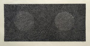 Two Entangled - print from lino cut by Mark Andrew Webber